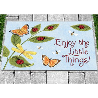 Enjoy the Little Things Door Mat  -
