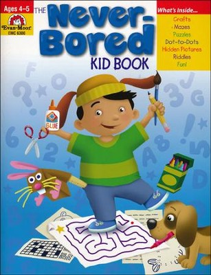 The Never-Bored Kid Book, Ages 4-5   -