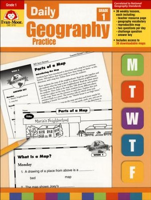 Daily Geography Practice, Grade 1   -