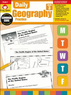 Daily Geography Practice, Grade 3   -