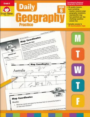 Daily Geography Practice, Grade 6   -