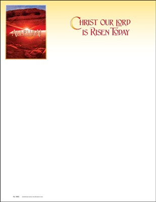 Christ Our Lord Is Risen Today, Letterhead, 100  -