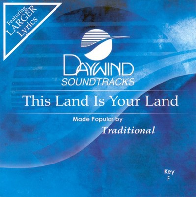 This Land Is Your Land, Accompaniment CD   -