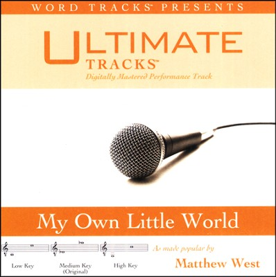 Ultimate Tracks - My Own Little World - As Made Popular By Matthew West [Performance Track]  [Music Download] -     By: Matthew West