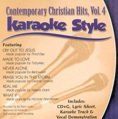 Contemporary Christian Hits, Volume 4, Karaoke Style CD   -