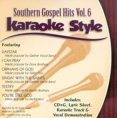 Southern Gospel Hits, Volume 6, Karaoke Style CD   -