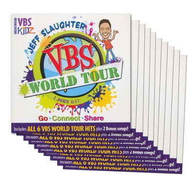 Jeff Slaughter VBS World Tour: VBS Listening CD (10 Pack)  -     By: Jeff Slaughter