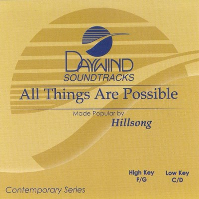 All Things Are Possible, Accompaniment CD   -     By: Hillsong