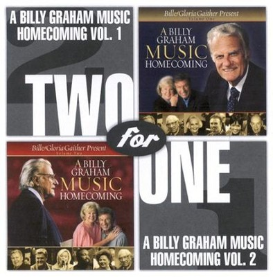A Billy Graham Music Homecoming Vol 1 & 2 CD   -     By: Bill Gaither, Gloria Gaither, Homecoming Friends