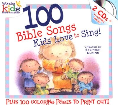 100 Bible Songs Kids Love to Sing! CD-ROMs   -     By: Wonder Kids