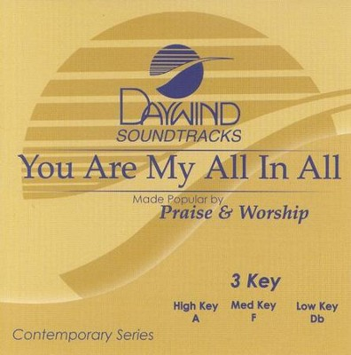 You Are My All In All, Accompaniment CD   -