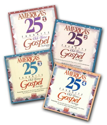 America's 25 Favorite Old-Time Gospel Songs, Split Trax Volumes 1-4  -