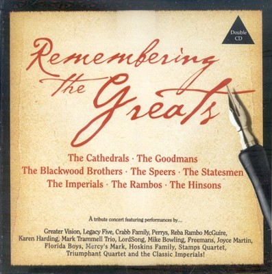 Remembering The Greats CD   -     By: Various Artists