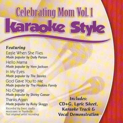 Celebrating Mom, Volume 1, Karaoke Style CD   -