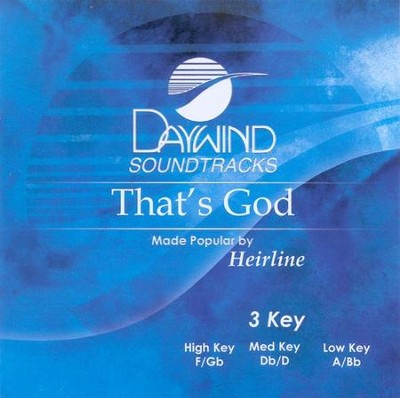 That's God, Accompaniment CD   -     By: Heirline