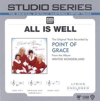 All Is Well, Accompaniment CD   -     By: Point of Grace