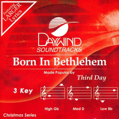 Born In Bethlehem, Acc CD    -     By: Third Day