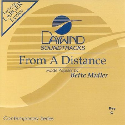From A Distance, Accompaniment CD   -     By: Bette Midler