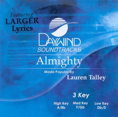 Almighty, Accompaniment CD   -     By: Lauren Talley