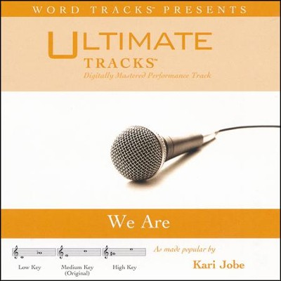 We Are (Medium Key Performance Track With Background Vocals)  [Music Download] -