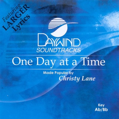 One Day At A Time, Accompaniment CD   -     By: Christy Lane