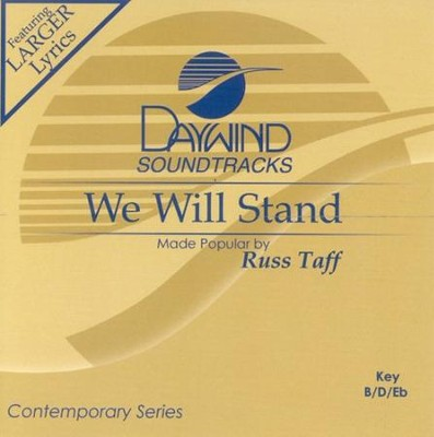 We Will Stand, Accompaniment CD   -     By: Russ Taff