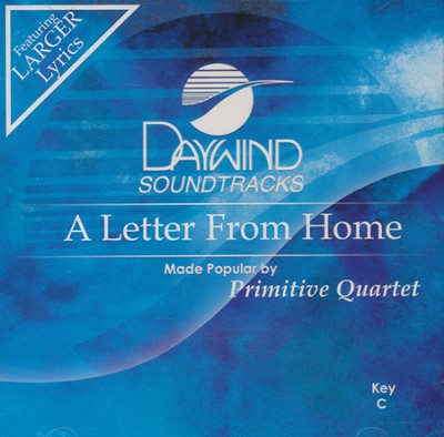 Letter From Home, Acc CD   -     By: The Primitive Quartet