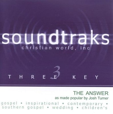 The Answer, Accompaniment CD   -     By: Josh Turner