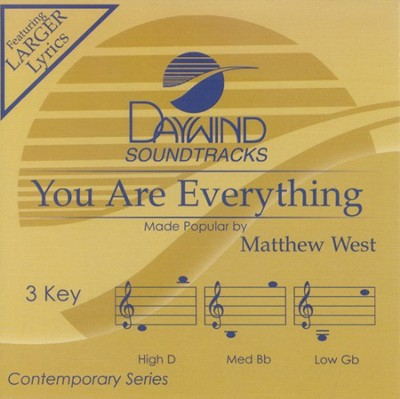 You Are Everything, Accompaniment CD   -     By: Matthew West