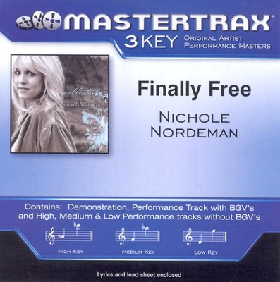 Finally Free (Medium Key-Premiere Performance Plus w/ Background Vocals)  [Music Download] -     By: Nichole Nordeman