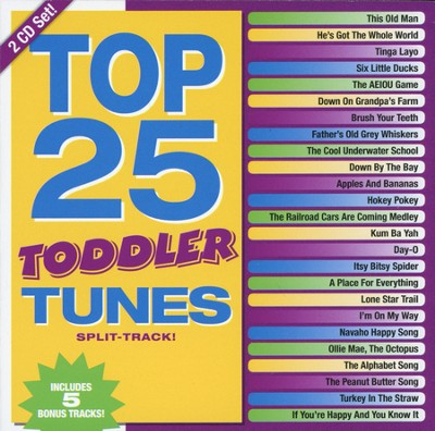 Top 25 Toddler Tunes--Split-Track CD   -     By: Various Artists