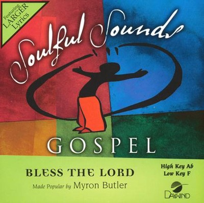 Bless the Lord, Acc CD    -     By: Myron Butler