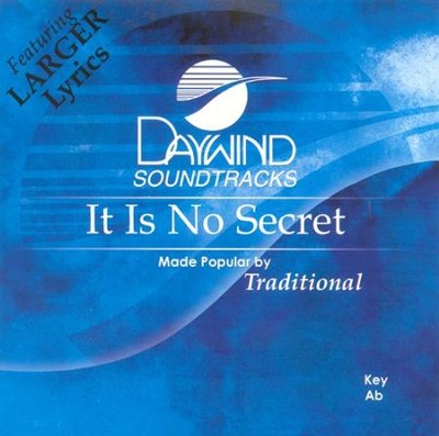 It Is No Secret, Accompaniment CD   -