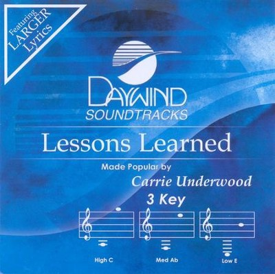 Lessons Learned, Accompaniment CD   -     By: Carrie Underwood