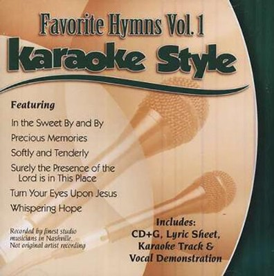 Favorite Hymns, Volume 1, Karaoke Style CD   -