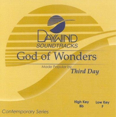 God Of Wonders, Accompaniment CD   -     By: Third Day