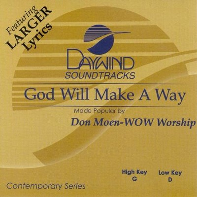 God Will Make A Way, Accompaniment CD   -     By: Don Moen, Janet Paschal