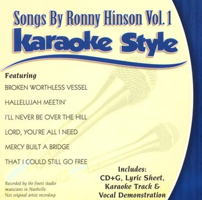 Songs By Ronny Hinson, Vol. 1 Karaoke Style, CD  -     By: Studio Artist