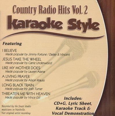 Country Radio Hits Volume 2, Karaoke Style CD    -