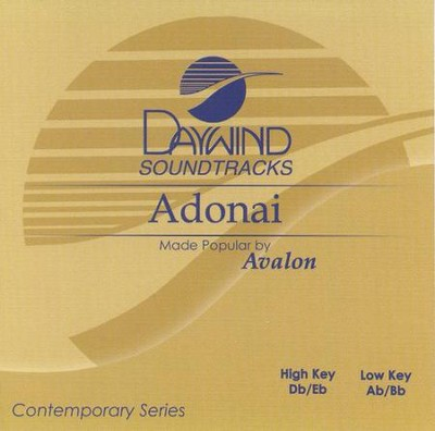 Adonai, Accompaniment CD   -     By: Avalon