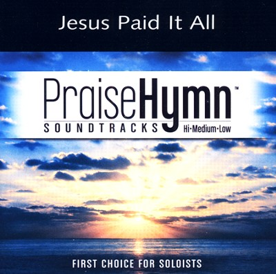 Jesus Paid It All (Low With Background Vocals)  [Music Download] -