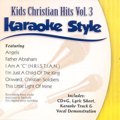 Kids Christian Hits, Volume 3, Karaoke Style CD   -