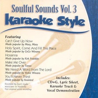Soulful Sounds, Volume 3, Karaoke Style CD   -