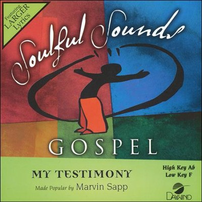 My Testimony, Acc CD   -     By: Marvin Sapp