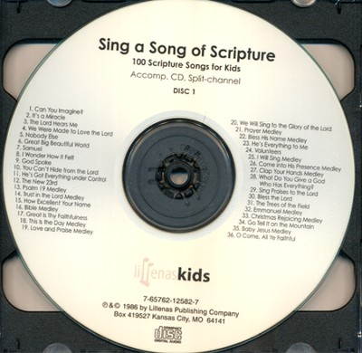 Sing A Song Of Scripture, Double Accomp. CD  -