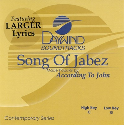 Song Of Jabez, Accompaniment CD   -     By: According to John