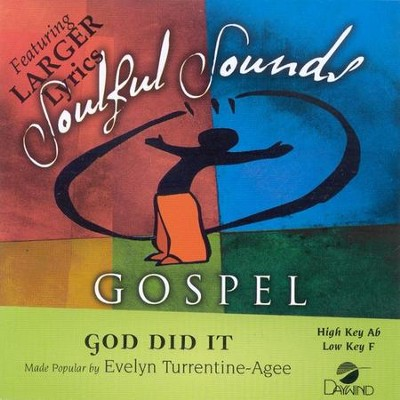 God Did It, Accompaniment CD   -     By: Evelyn Turrentine-Agee