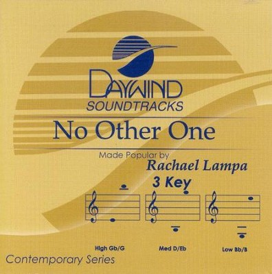 No Other One, Accompaniment CD   -     By: Rachael Lampa