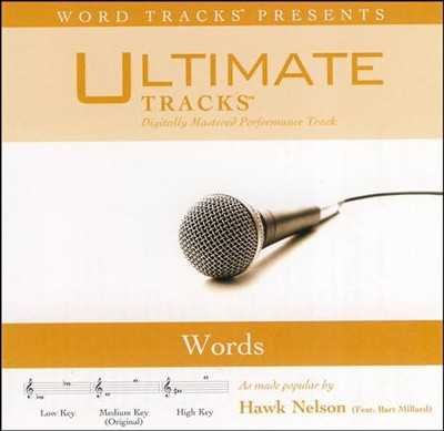 Words (Low Key Performance Track with Background Vocals)  [Music Download] -