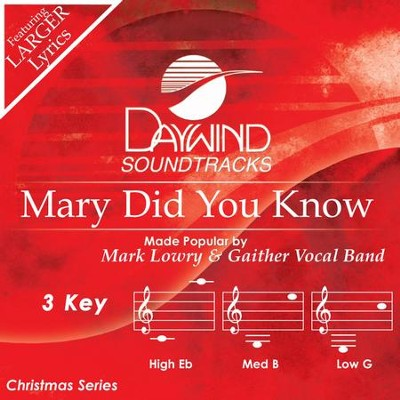 Mary, Did You Know? Acc CD   -     By: Mark Lowry, Gaither Vocal Band